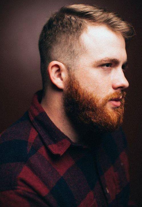 red beard with brown hair undercut