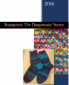 Dragonscale  Socken pattern cover.