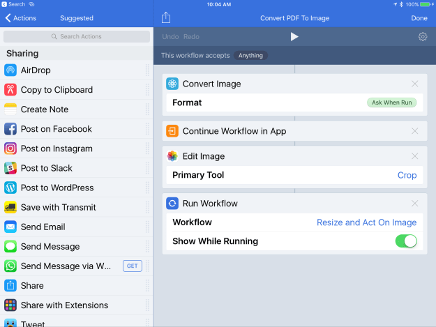 A new and very helpful feature of Workflow: Convert PDF to Image