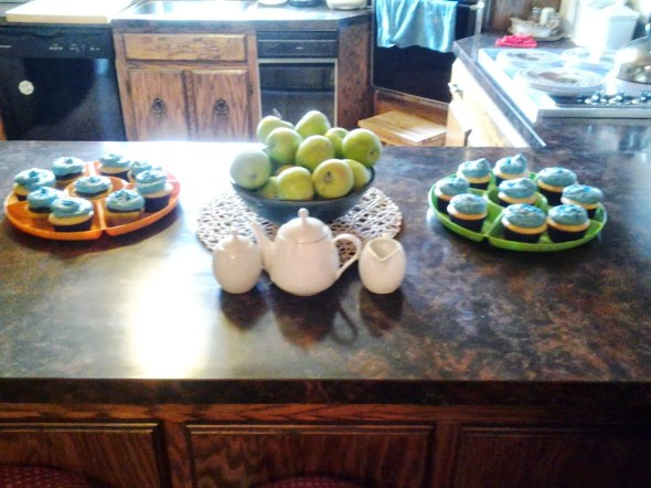 More treats for the party and even a tea set provided by Mom Select