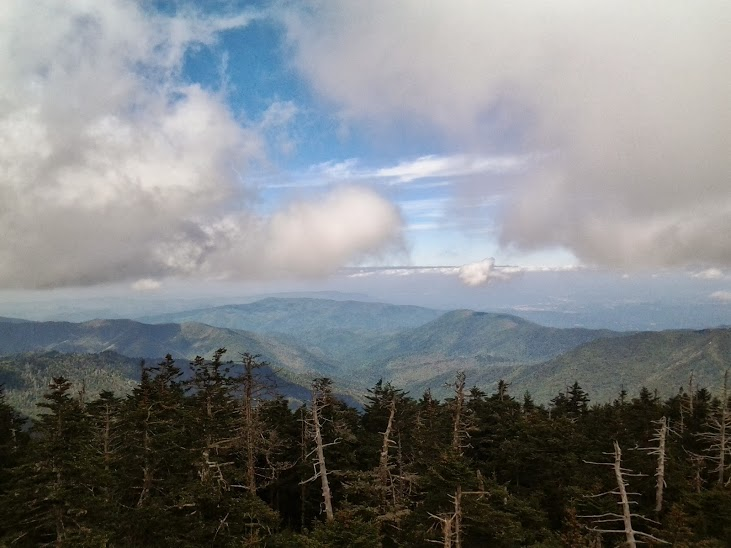 At the top at Clingmans Dome