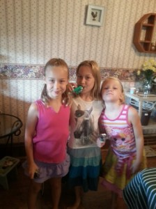 Some of the girls enjoying CLIF Kid ZBars