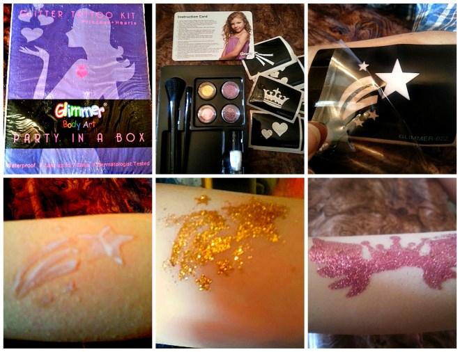 glitter tattookit