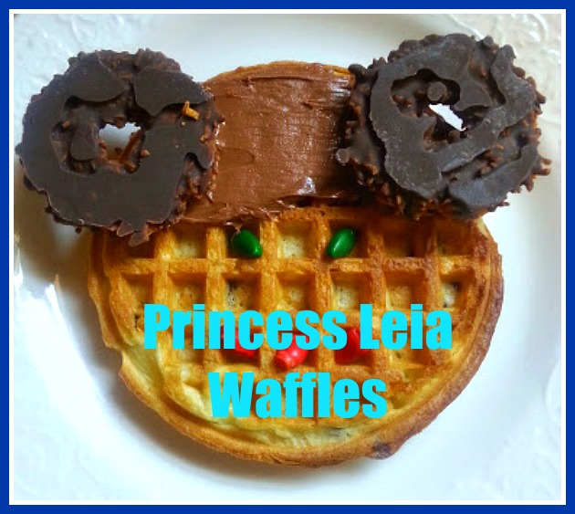 Princess Leia Waffles for Star Wars Breakfast
