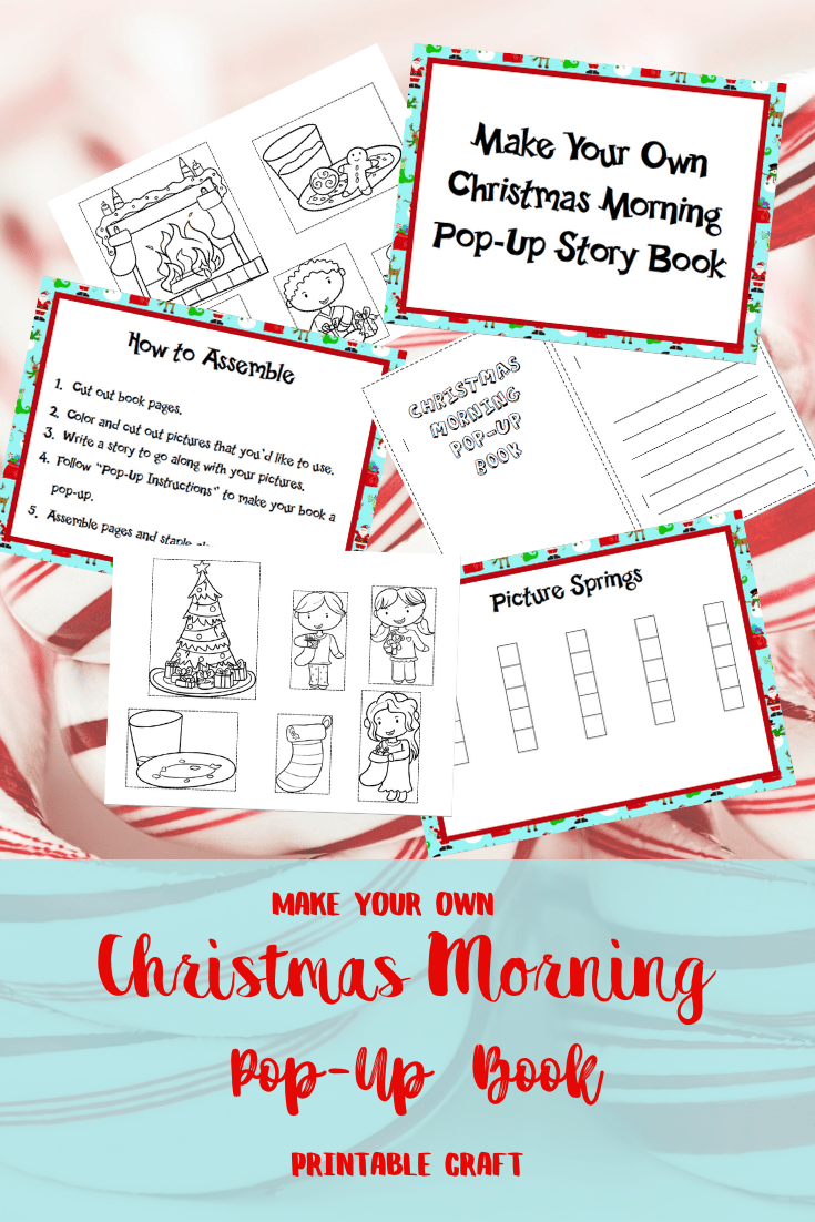 Make Your Own Christmas Pop Up Book Craft Printable from Misfit Mama Bear Haven