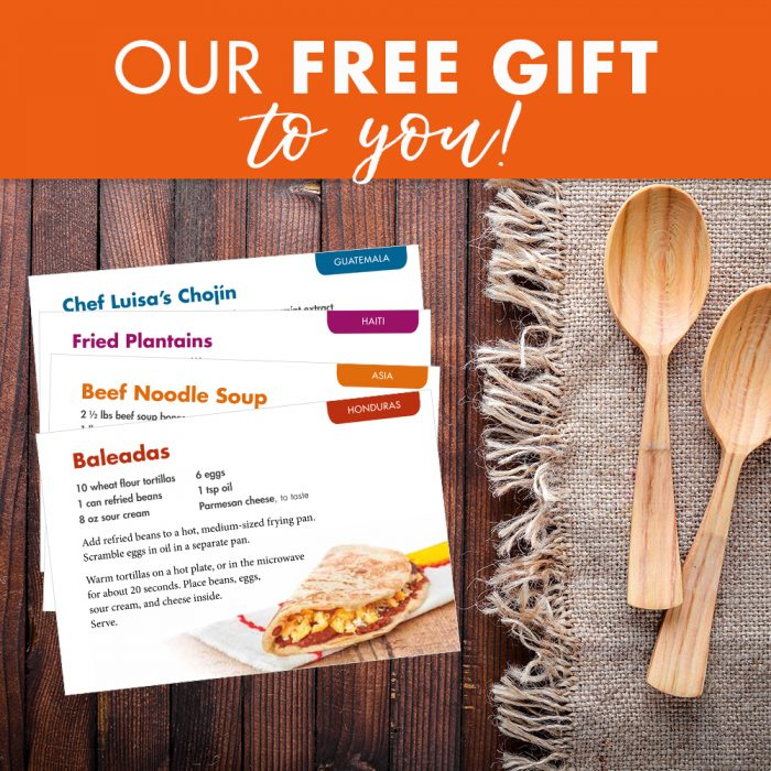 free recipe cards from Operation blessing