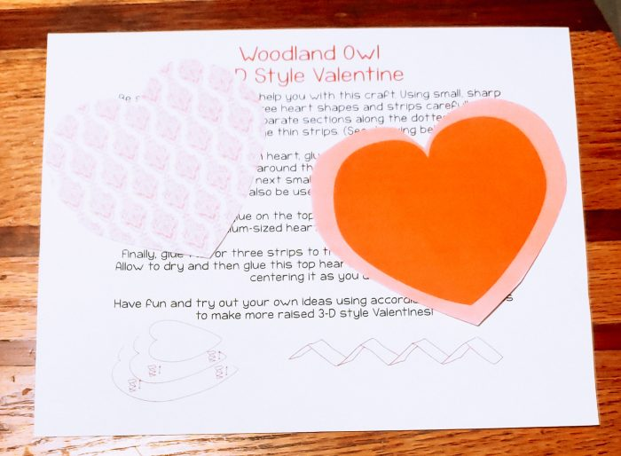 Have fun with your kids and create a very unique 3-D Woodland Owl free Printable Valentine Card craft! This printable comes with template and instructions!