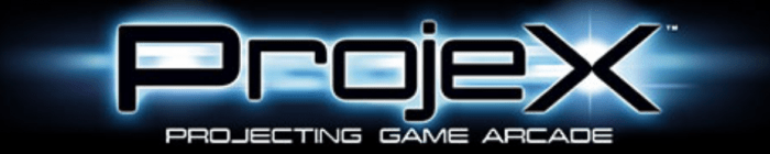 ProjeX Projecting game arcade logo