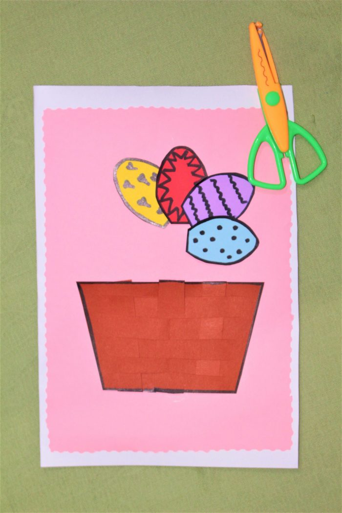 creating and easter egg basket card craft