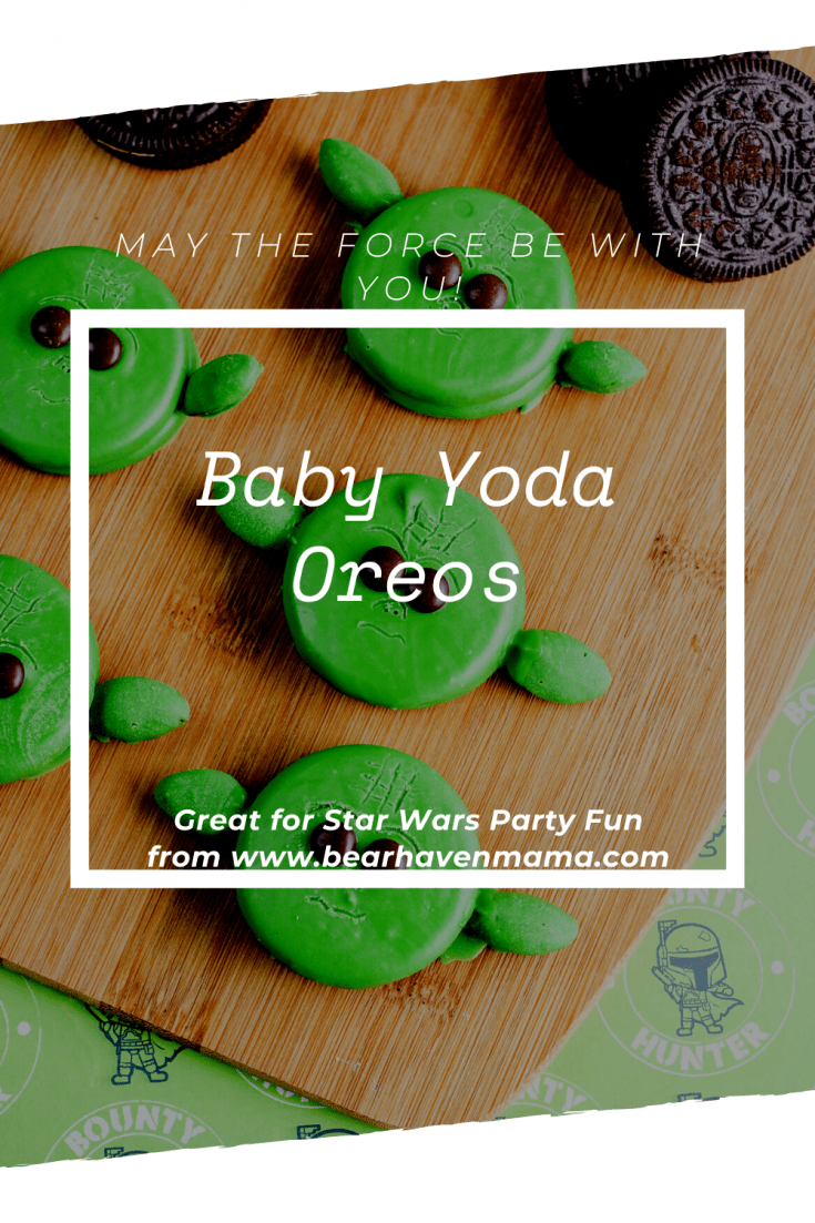 Turn your May the Fourth Celebration into an Epic Star Wars Party with these cute and fun Baby Yoda Oreos. Follow these simple instructions to create yours! #babyyoda #starwars #starwarsparty #maythefourth