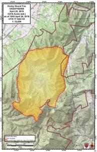 Shenandoah National Park 2 fire