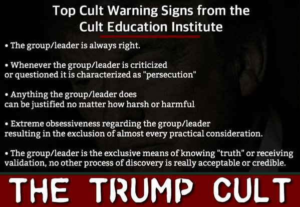Image result for Trump's  cult following