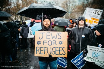 Jewish Rally for Refugees, NYC, Feb 12 2017