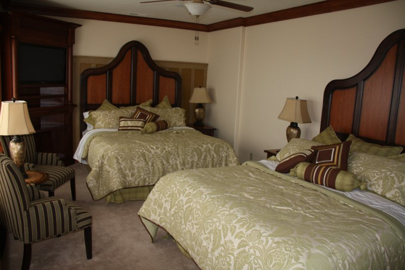 Suite #4 with two King beds with outside entrance