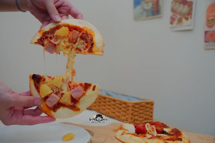 宅配美食 Alleycat's Pizza- 巷貓6吋義式薄脆手工披薩,不用退冰直接烤,在家隨時吃