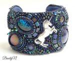 bracelet licorne bleu_BearlyN