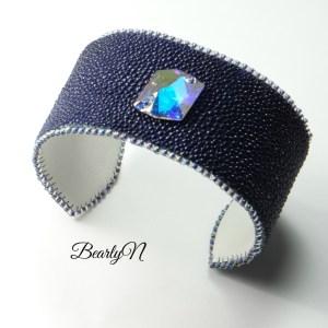 bracelet galuchet ultra-violet cristal de Swarovski