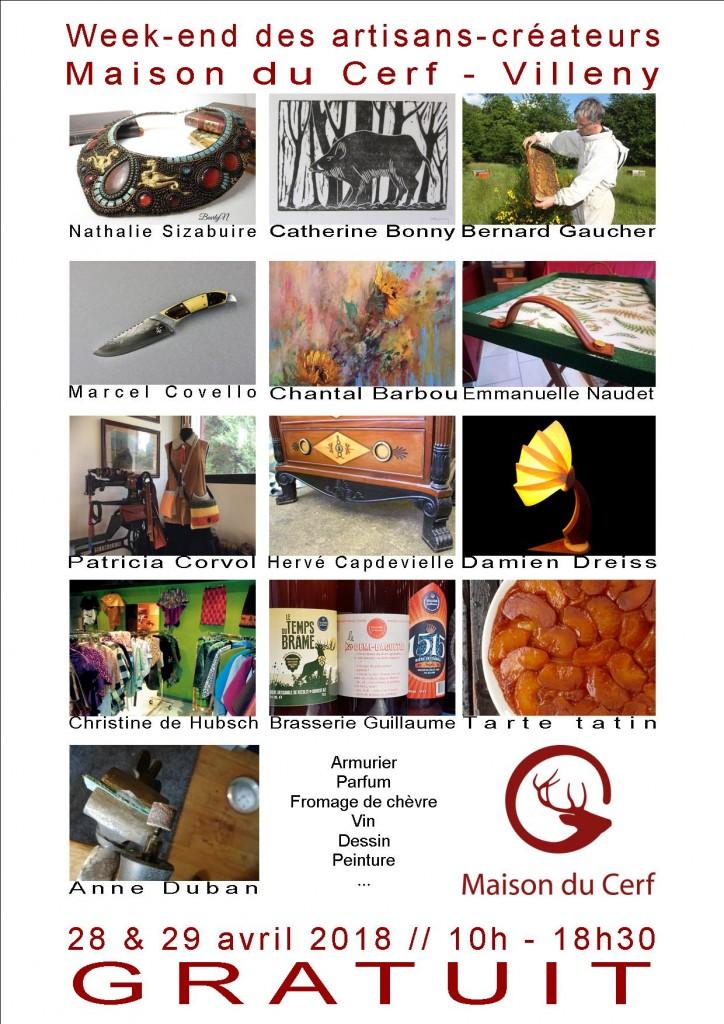 Affiche Week-End des Artisans Villeny