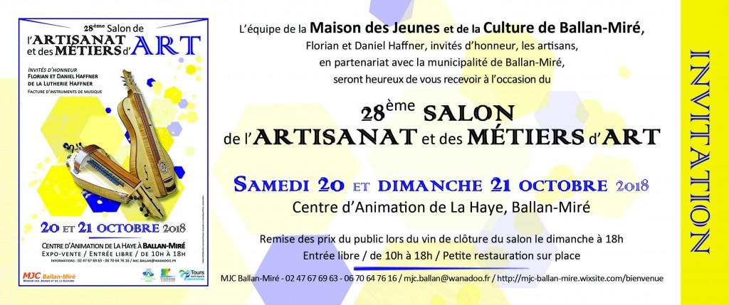 Invitation - Salon de lArtisanat et des Métiers dArt 2018