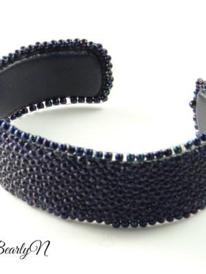 bracelet galuchat violet