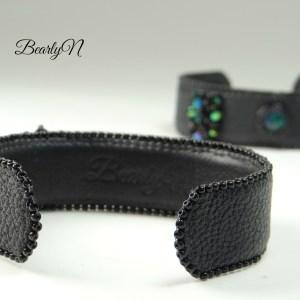 bracelets cuirs noir_BearlyN