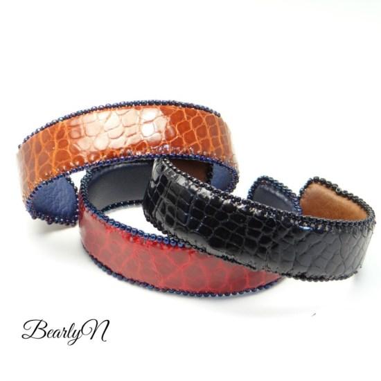 bracelet en cuir de crocodile_BearlyN