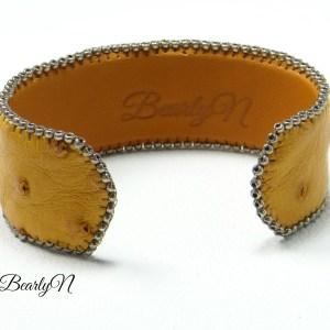 bracelet autruche doublé et signé BearlyN