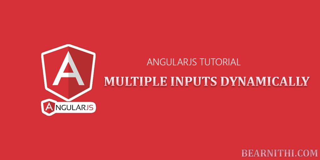How to dynamically Create Multiple Input fields using