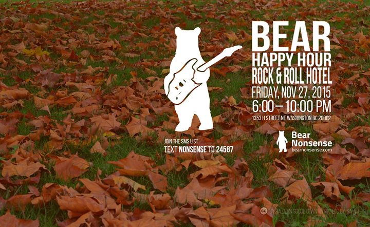 Bear Happy Hour at Rock & Roll Hotel – November 27