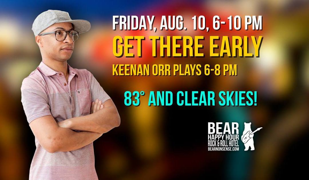 Keenan Orr at Bear Happy Hour at Rock & Roll Hotel – August 10, 2018