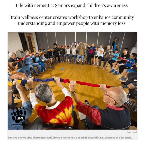 Life with dementia_ Seniors expand children's awarenessBrain wellness center creates workshop to enhance community understanding and empower people with memory loss