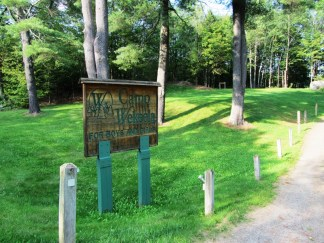 "Sign: ""Camp Wekeela for Boys and Girls"" from Route 219 in Hartford"