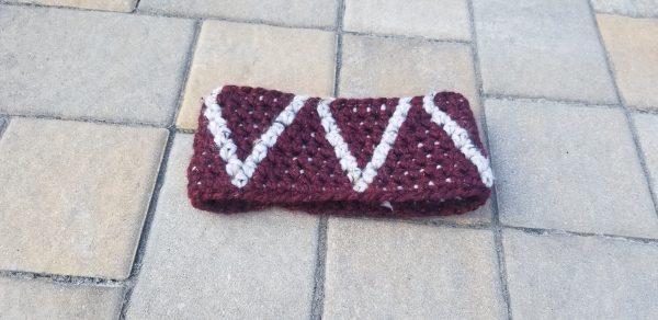 Flat lay crochet headband