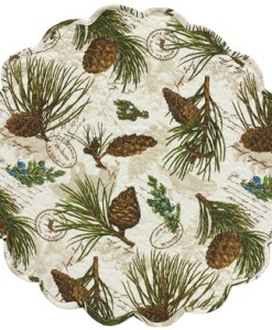 "Walk in the Woods 17"" Round Placemat"