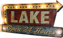 LED Metal Lake Bar Sign