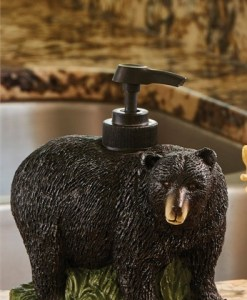 Bear Resin Soap Lotion Dispenser