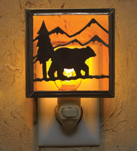 25-003 – Lodge Bear Night Light