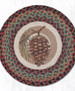 "Pinecone 15"" Round Placemat"