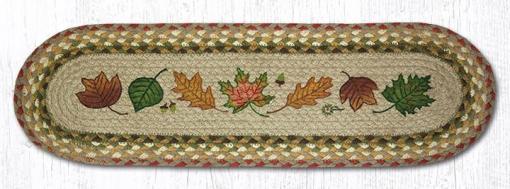 """Autumn Leaves 8.25"""" x 27"""" Braided Stair Tread"""