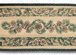 "Pinecone 13"" x 36"" Braided Runner"