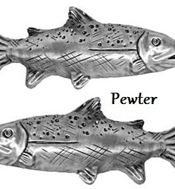 Trout Drawer Pull - Left and Right Facing