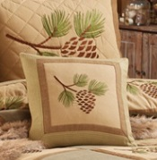 685-53-P-F Pineview Appliqued 7 Embroidered Pillow 16-2