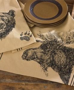 Moose Printed Dishtowel