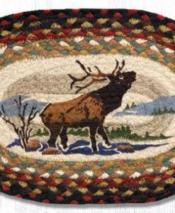 "Winter Elk 10"" x 15"" Oval Braided Swatch"