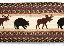 "Moose & Bear 13"" x 36"" Braided Runner"