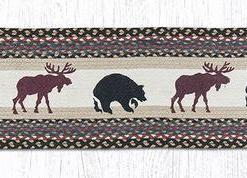 "Moose & Bear 13"" x 48"" Braided Runner"