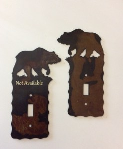 Bear Single Toggle Switch Plate Cover