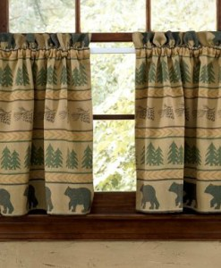 Bear Tracks Valance 24in