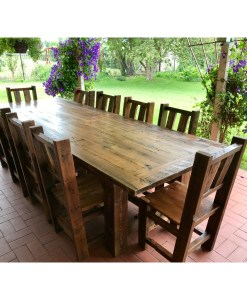 Reclaimed Beetle Kill Pine Kitchen Table