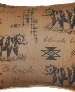 "Black Bear Tobacco 26"" x 26"" Pillow"